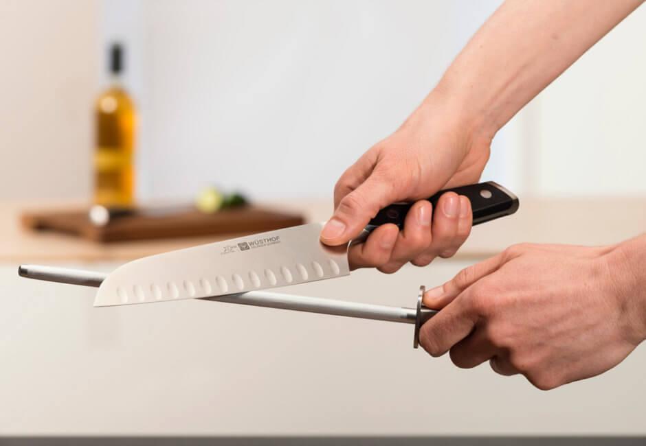 Exemplo prático de afiação de facas com chaira