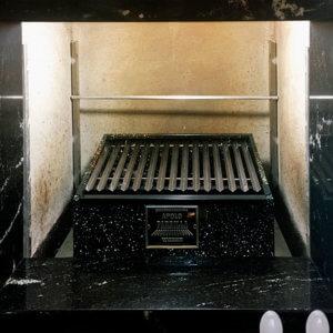 imagens de mini churrasqueira com grelha argentina