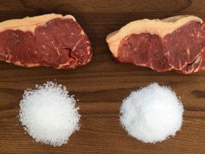 carnes e sal grosso e fino